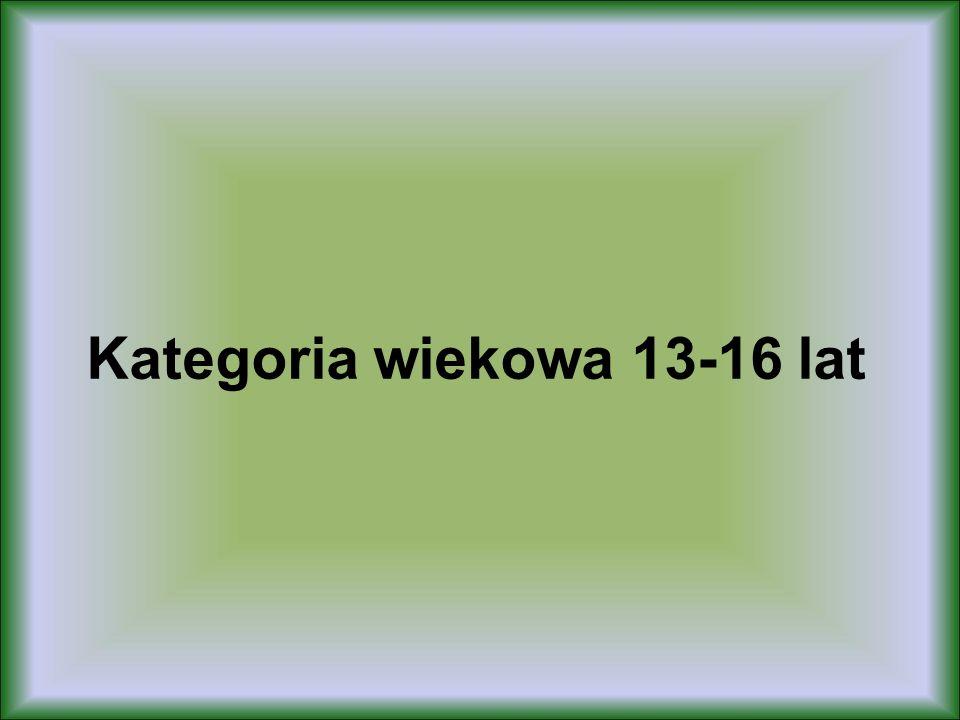 Kategoria wiekowa 13-16 lat