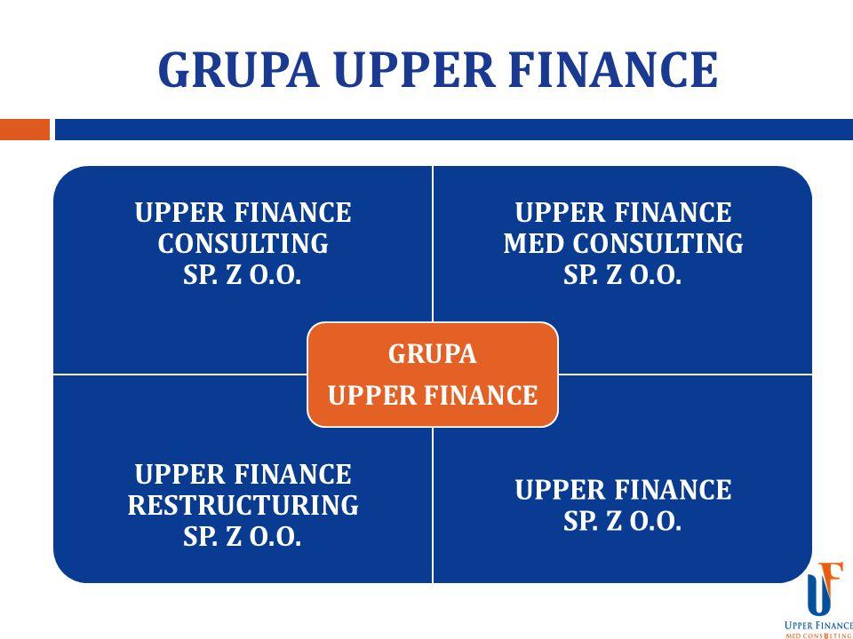 GRUPA UPPER FINANCE UPPER FINANCE CONSULTING SP. Z O.O. UPPER FINANCE MED CONSULTING SP. Z O.O. UPPER FINANCE RESTRUCTURING SP. Z O.O. UPPER FINANCE S