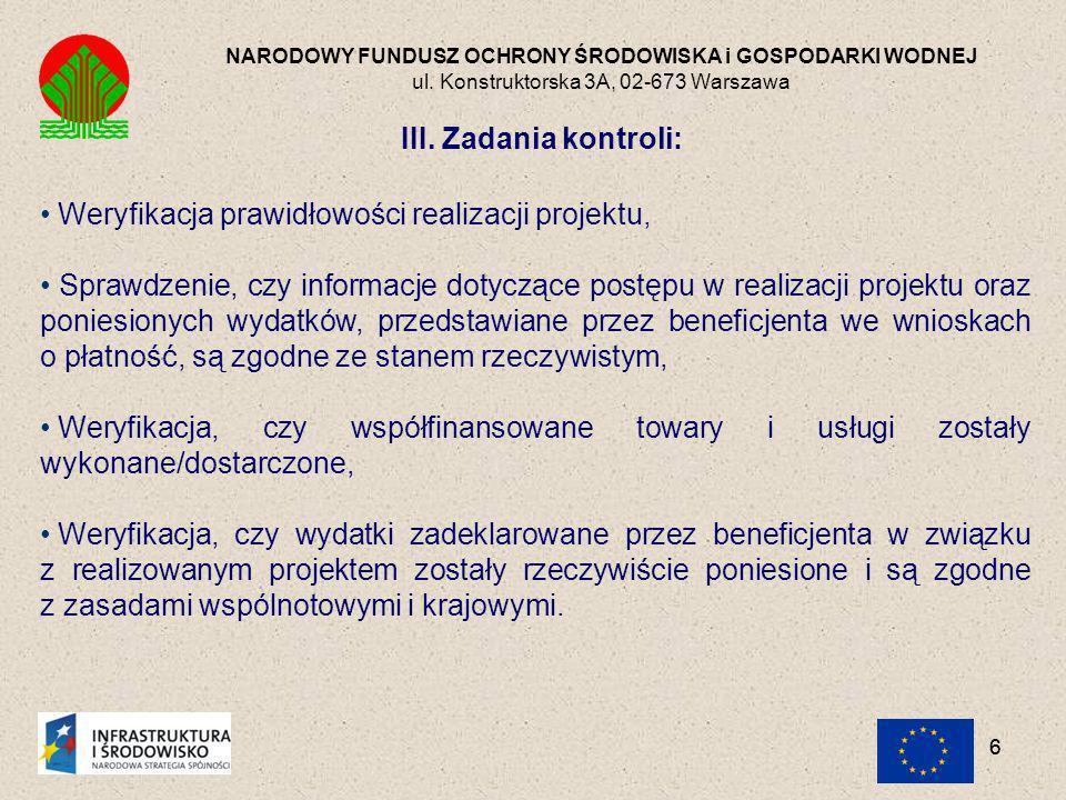 27 NARODOWY FUNDUSZ OCHRONY ŚRODOWISKA i GOSPODARKI WODNEJ ul.
