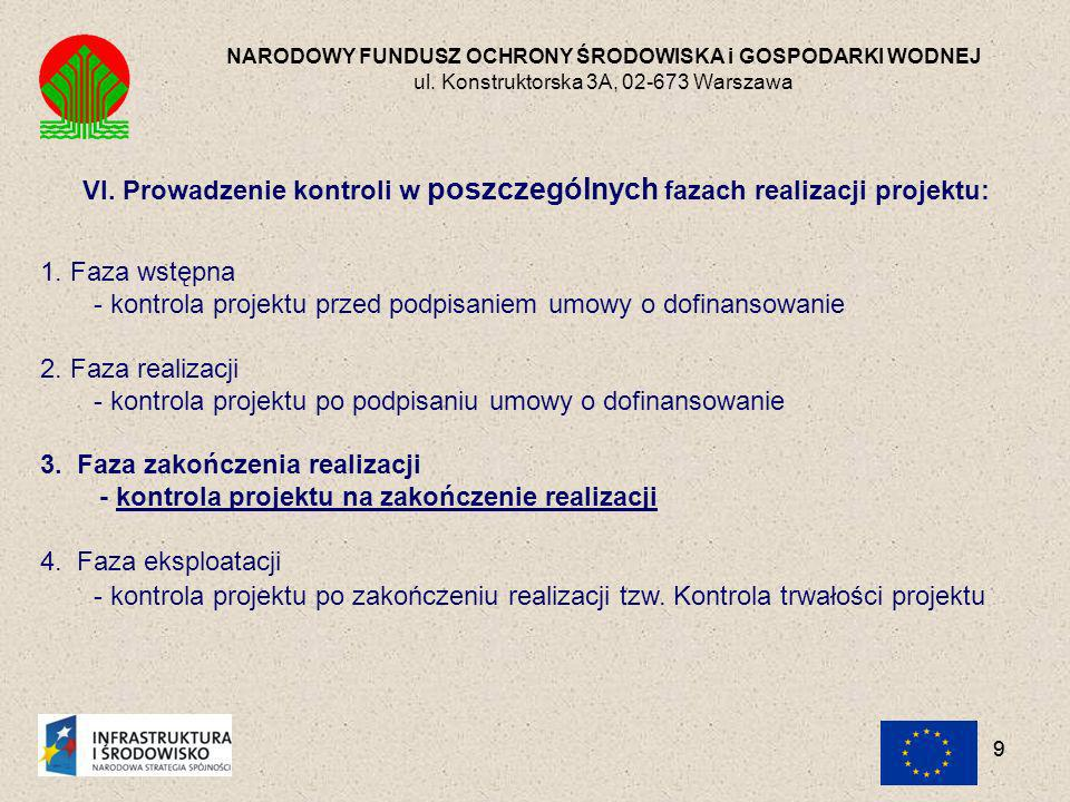 30 NARODOWY FUNDUSZ OCHRONY ŚRODOWISKA i GOSPODARKI WODNEJ ul.
