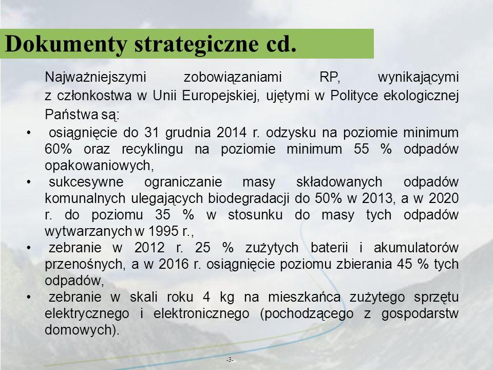 Propozycje rozwiązań -34- Przeprowadzenie spisu zamkniętych i opuszczonych obiektów unieszkodliwiania odpadów wydobywczych mogących wywierać negatywny wpływ na środowisko - zgodnie z metodyką opracowaną przez PIG PIB na zlecenie GIOŚ.