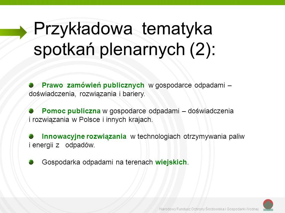 Narodowy Fundusz Ochrony Środowiska i Gospodarki Wodnej Sposoby zagospodarowania komunalnych osadów ściekowych.