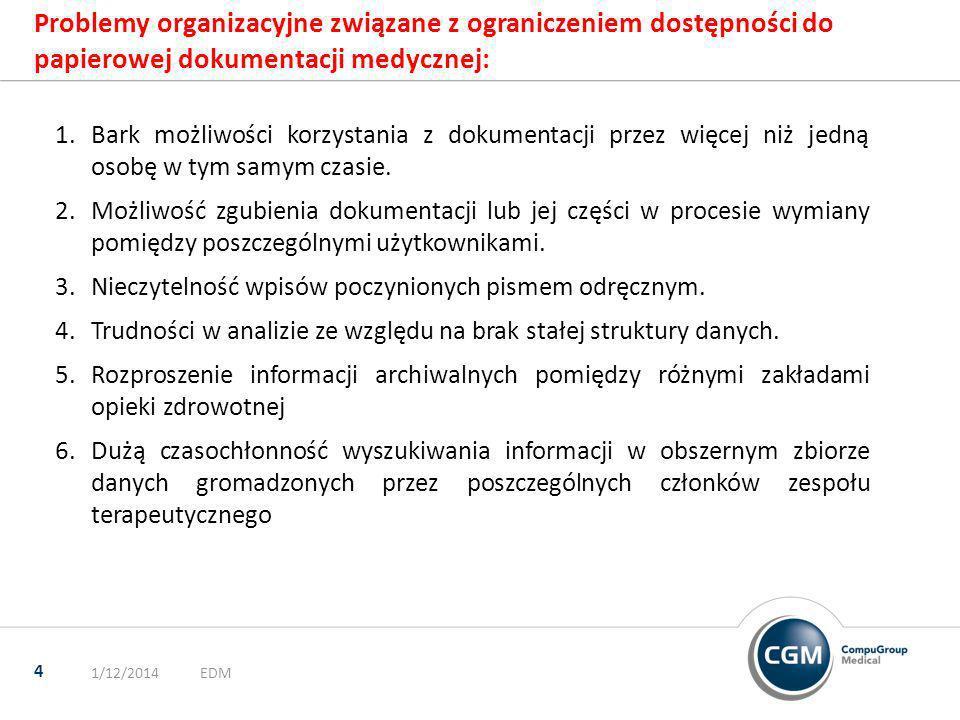 Prawidłowo prowadzona dokumentacja powinna spełniać następujące warunki: 1/12/2014Footer 5 1.Wspomagać proces leczenia jako podstawowe źródło oceny stanu chorego 2.Zapewniać zgodność terapii z obwiązującą wiedzą 3.Zapewniać zgodność terapii z obowiązującym w danym czasie stanem prawnym 4.Umożliwić prowadzenie badań naukowych w zakresie epidemiologii oraz skutków stosowania nowych rodzajów terapii 5.Umożliwić jednoznaczną ocenę jakości opieki 6.Wspomagać proces kształcenia kadr medycznych 7.Zapewnić informacje zarządcze umożliwiające rozliczenia z płatnikiem