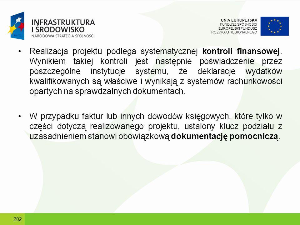 UNIA EUROPEJSKA FUNDUSZ SPÓJNOŚCI EUROPEJSKI FUNDUSZ ROZWOJU REGIONALNEGO Realizacja projektu podlega systematycznej kontroli finansowej. Wynikiem tak