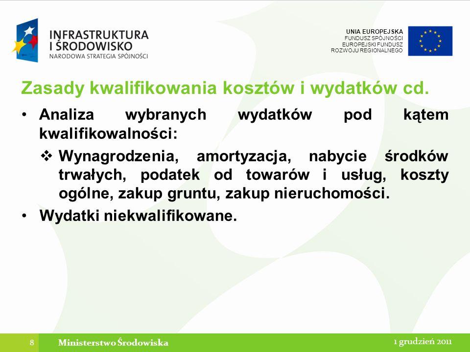 UNIA EUROPEJSKA FUNDUSZ SPÓJNOŚCI EUROPEJSKI FUNDUSZ ROZWOJU REGIONALNEGO Kontrola prawidłowości zastosowania wyodrębnionej ewidencji i kodu księgowego Zasady, zakres oraz metodyka przeprowadzania kontroli Beneficjenta zostały uregulowane w Wytycznych w zakresie kontroli realizacji Programu Operacyjnego Infrastruktura i Środowisko 2007-2013.