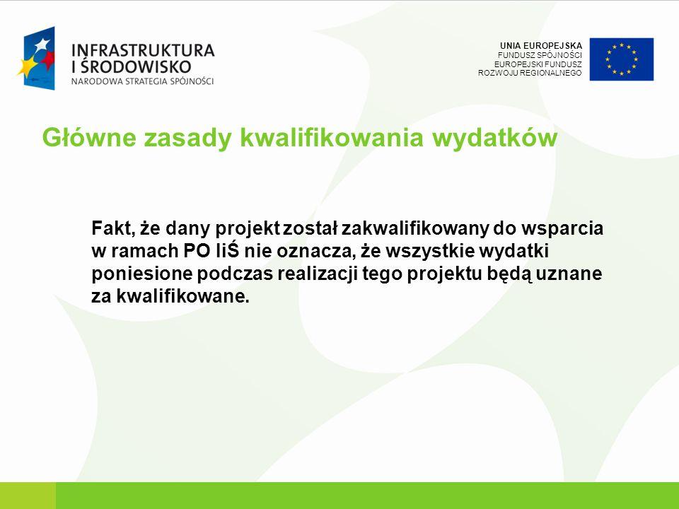 UNIA EUROPEJSKA FUNDUSZ SPÓJNOŚCI EUROPEJSKI FUNDUSZ ROZWOJU REGIONALNEGO Podstawy prawne Podręcznik Wdrażania Programu Operacyjnego Infrastruktura i Środowisko (wersja 2.0 z marca 2010 r.) W punkcie 7b podręcznika - Procedury stosowane przez beneficjenta (str.