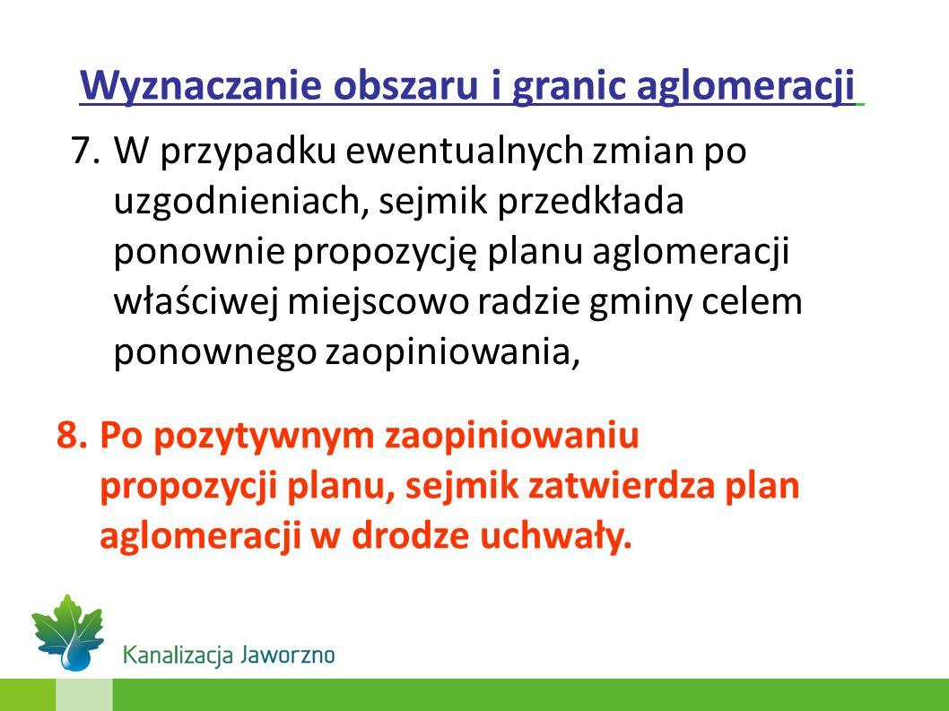 7.W przypadku ewentualnych zmian po uzgodnieniach, sejmik przedkłada ponownie propozycję planu aglomeracji właściwej miejscowo radzie gminy celem pono