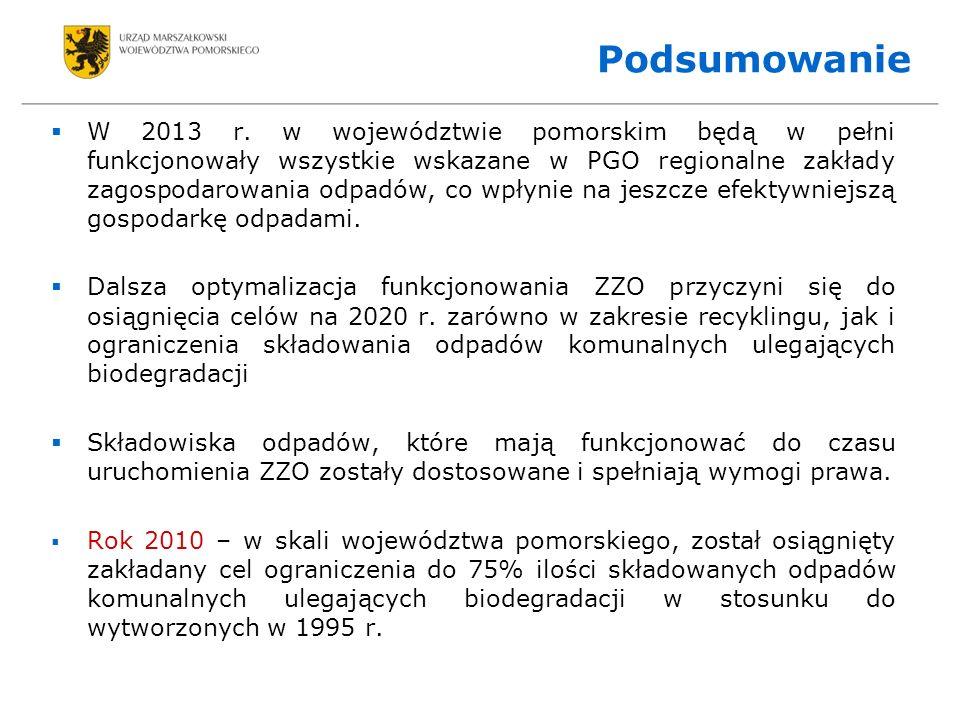 Podsumowanie W 2013 r.