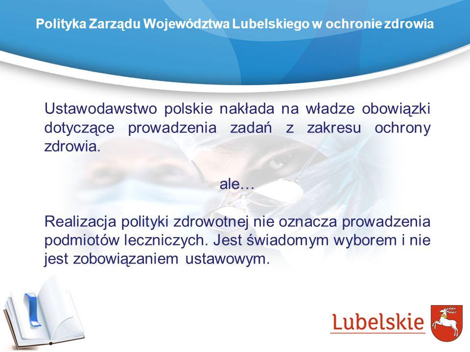 Ustawodawstwo polskie nakłada na władze obowiązki dotyczące prowadzenia zadań z zakresu ochrony zdrowia. ale… Realizacja polityki zdrowotnej nie oznac