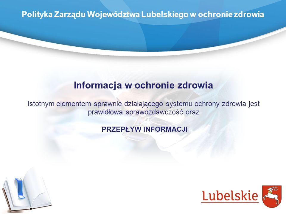 Informacja w ochronie zdrowia Istotnym elementem sprawnie działającego systemu ochrony zdrowia jest prawidłowa sprawozdawczość oraz PRZEPŁYW INFORMACJ