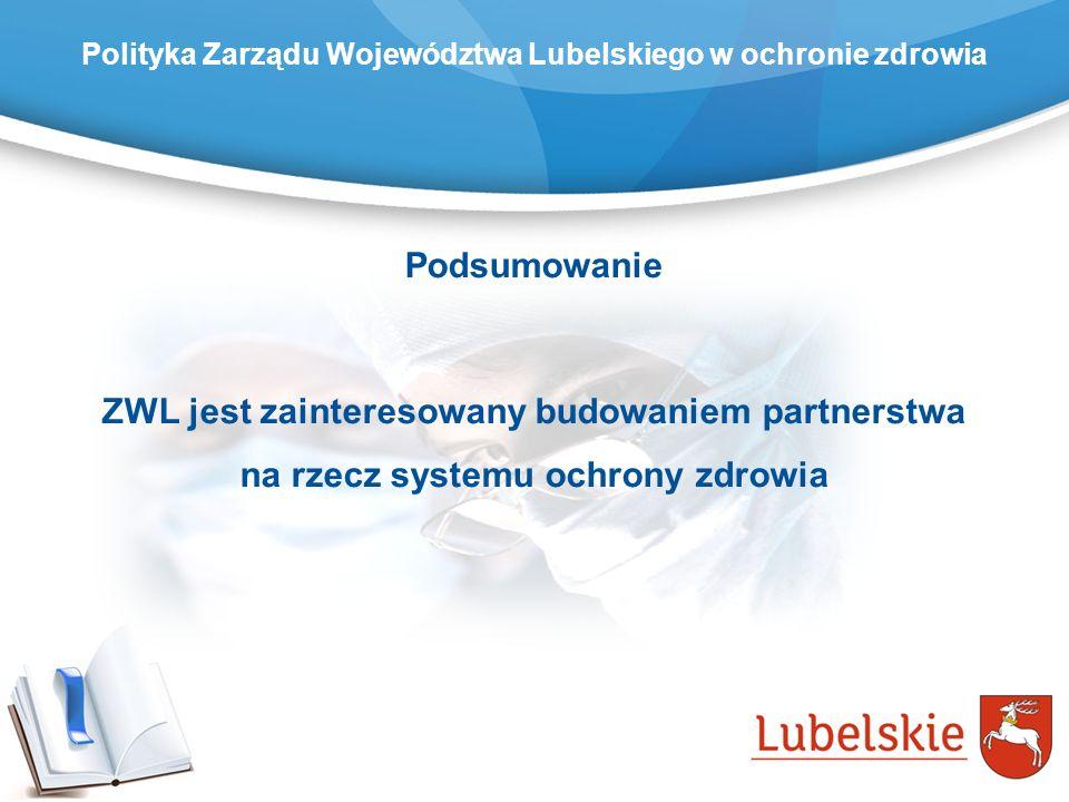 Podsumowanie ZWL jest zainteresowany budowaniem partnerstwa na rzecz systemu ochrony zdrowia