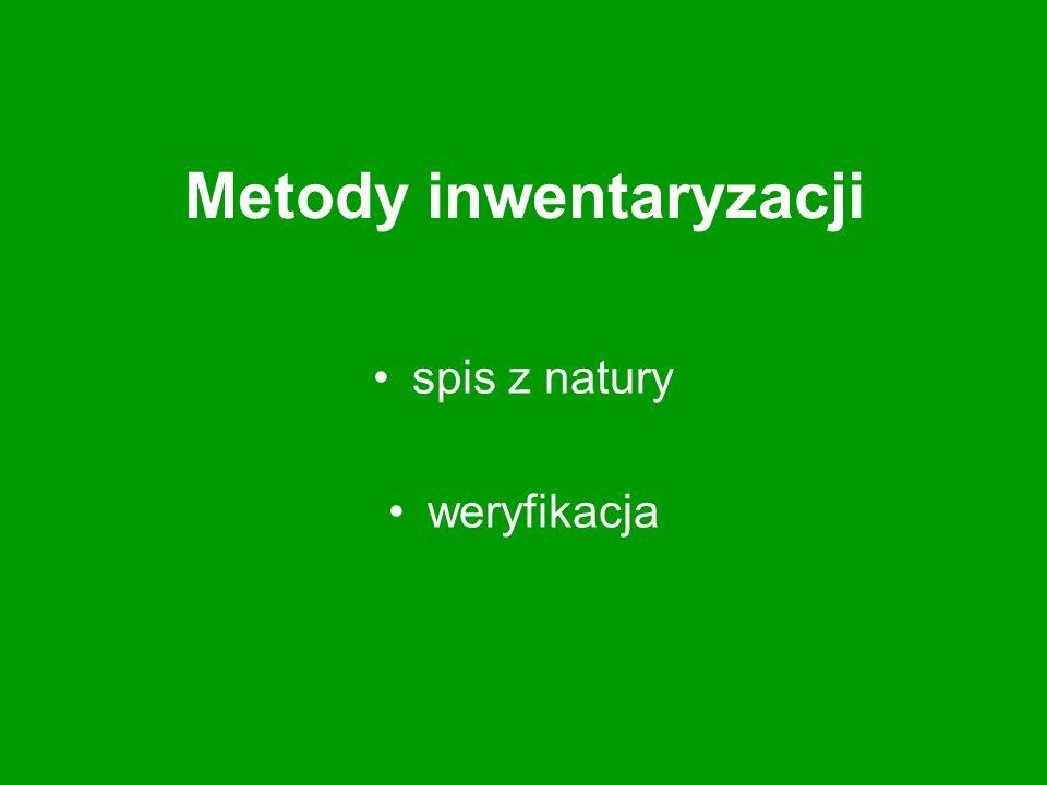 Metody inwentaryzacji spis z natury weryfikacja