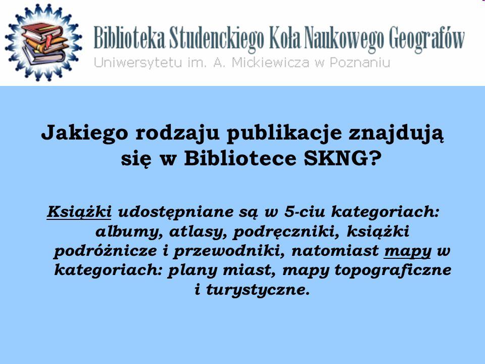 Jakiego rodzaju publikacje znajdują się w Bibliotece SKNG.