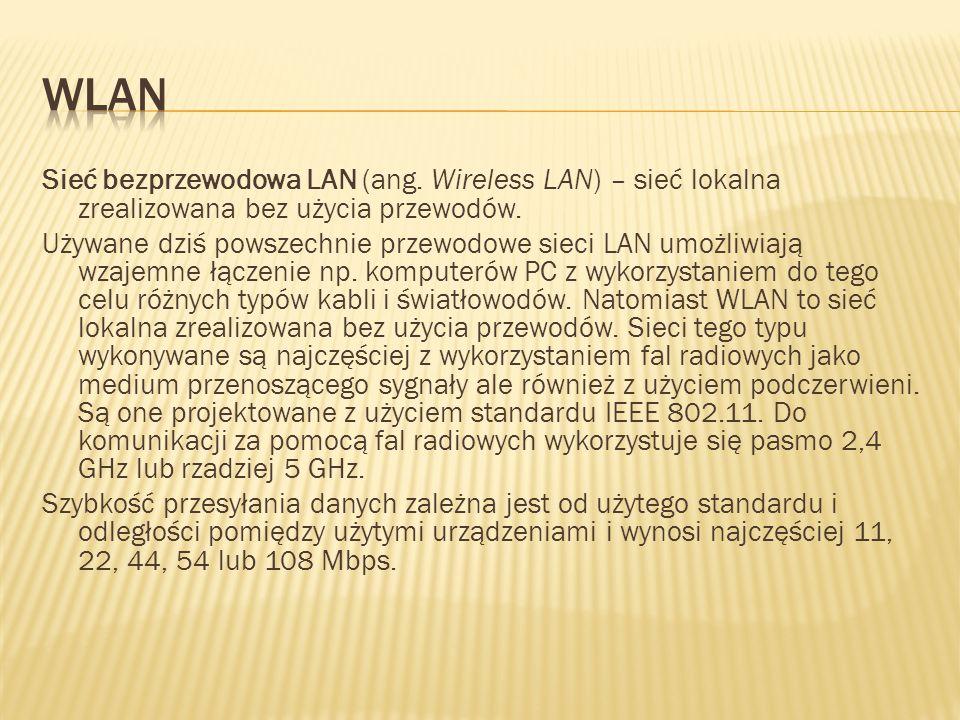 Sieć bezprzewodowa LAN (ang. Wireless LAN) – sieć lokalna zrealizowana bez użycia przewodów. Używane dziś powszechnie przewodowe sieci LAN umożliwiają