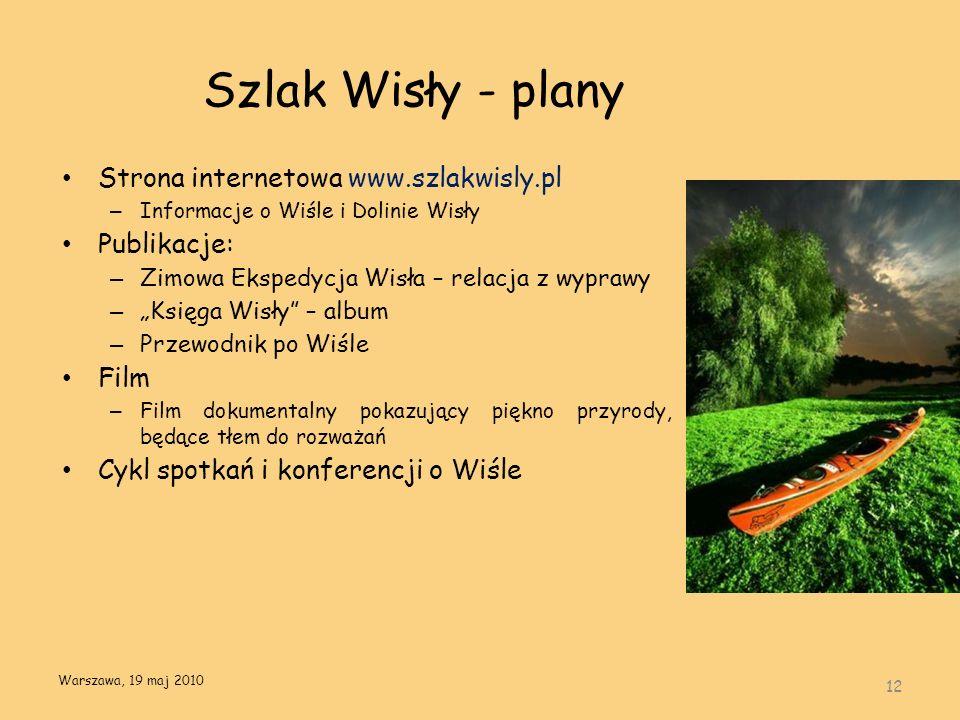 Szlak Wisły - plany 12 Strona internetowa www.szlakwisly.pl – Informacje o Wiśle i Dolinie Wisły Publikacje: – Zimowa Ekspedycja Wisła – relacja z wyp