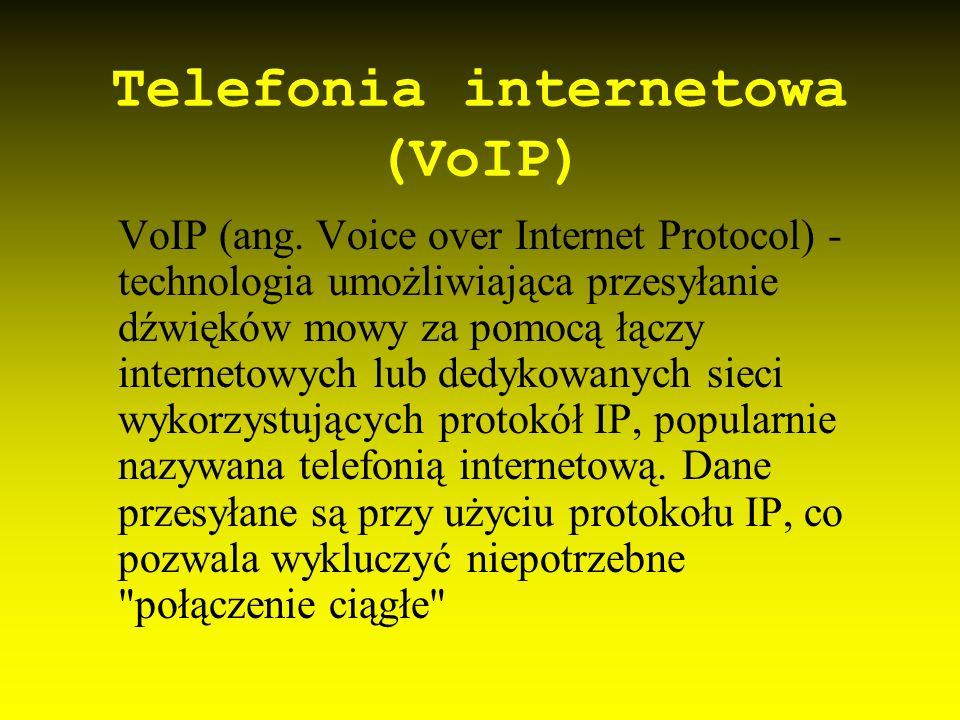 Telewizja internetowa Odmiana telewizji używająca za medium transmisji mechanizmów dostępnych w Internecie.