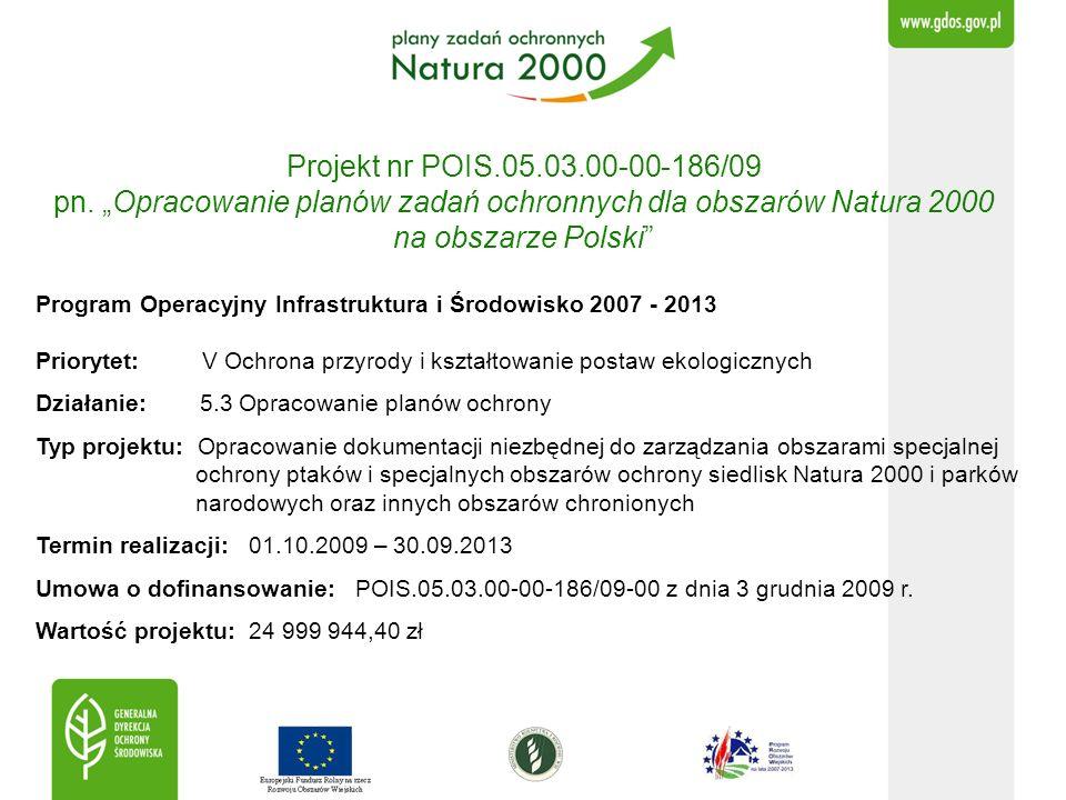 Projekt nr POIS.05.03.00-00-186/09 pn. Opracowanie planów zadań ochronnych dla obszarów Natura 2000 na obszarze Polski fot. H. Janowski Program Operac