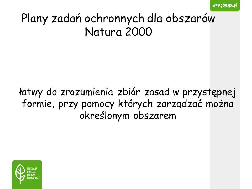 Plany zadań ochronnych dla obszarów Natura 2000 łatwy do zrozumienia zbiór zasad w przystępnej formie, przy pomocy których zarządzać można określonym