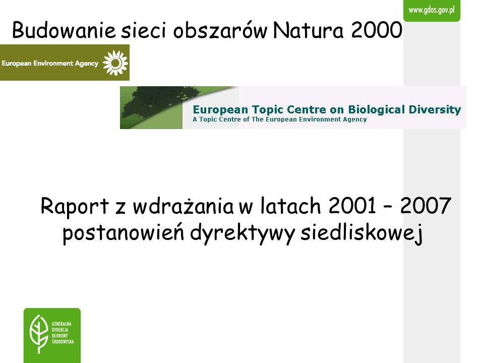 Budowanie sieci obszarów Natura 2000 Raport z wdrażania w latach 2001 – 2007 postanowień dyrektywy siedliskowej
