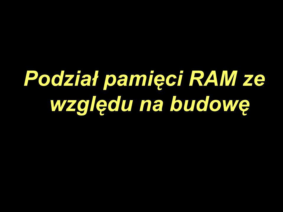 Podział pamięci RAM ze względu na budowę