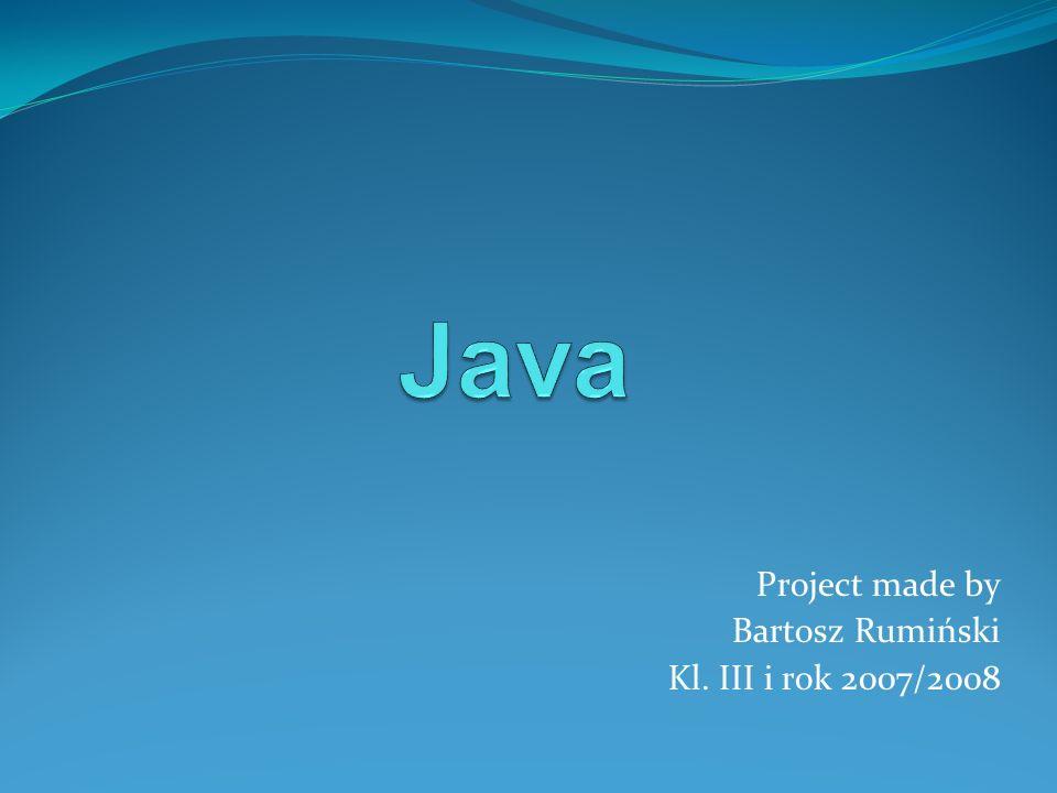 Java Java już wkrótce stanie się powszechnym językiem programowania, nauczanym nie tylko na uczelniach akademickich, ale również w szkołach średnich.
