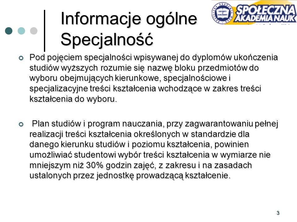 14 Podział specjalności Zarządzanie jakością w systemach produkcyjnych Zarządzanie jakością w systemach produkcyjnych Transport – Spedycja – Logistyka Transport – Spedycja – Logistyka Logistyka handlu i dystrybucji Logistyka handlu i dystrybucji E - logistyka E - logistyka