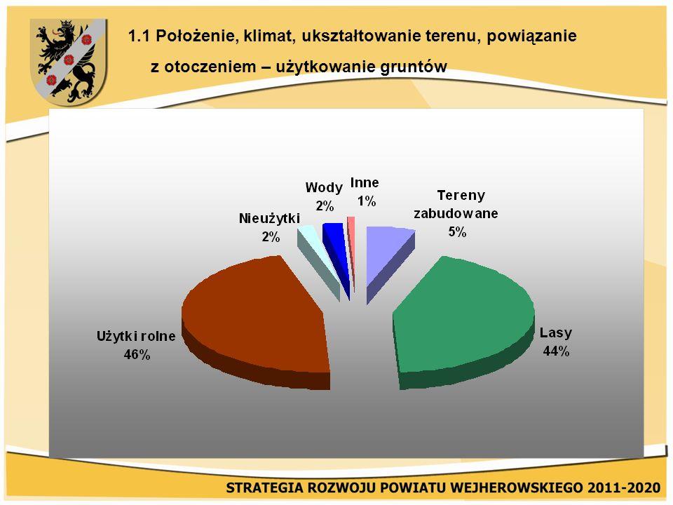 3.3 Gospodarka wodno-ściekowa i gazownictwo Sieć gazowa w Powiecie Wejherowskim wg stanu na dzień 31.12.2008 r.