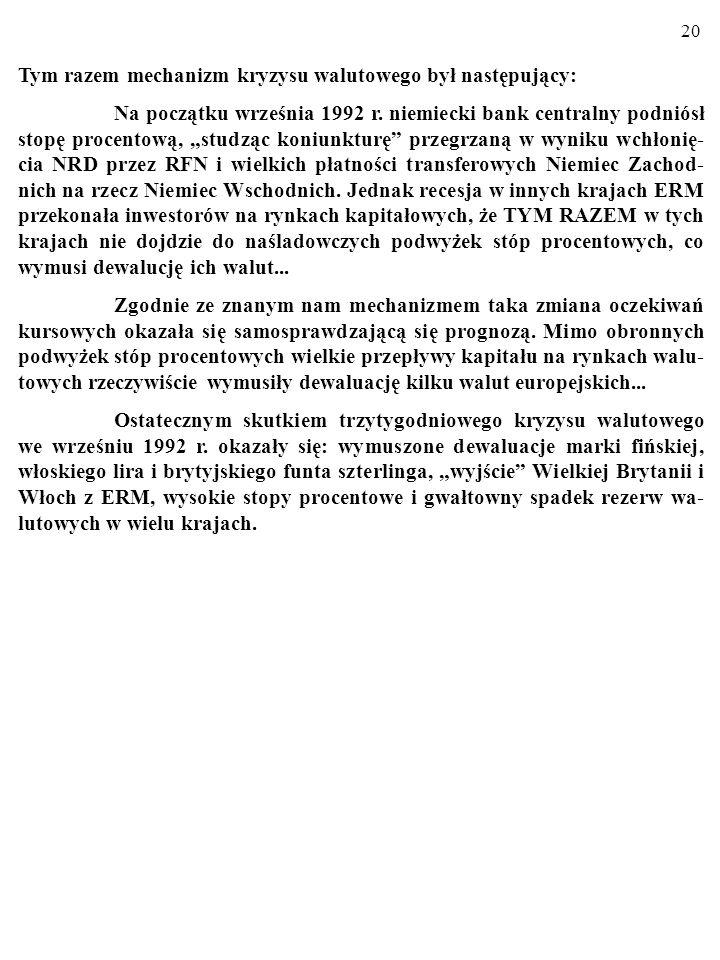 19 Ramka 1. Europejski Mechanizm Kursów Walutowych, ERM.