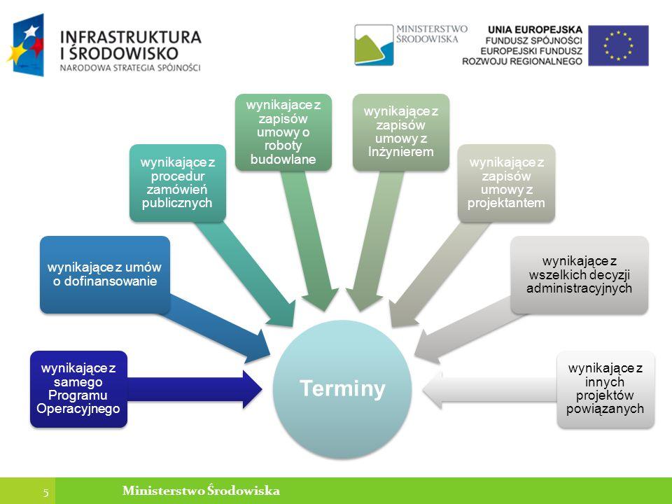 Główne argumenty ugody Wysokość kar należnych Zamawiającemu ok 1,5 mln PLN (opóźnienie o 183 dni), kary 0,2% Trudny do oszacowania koszt dokończenia siłami własnymi Zamawiającego lub przez innego Wykonawcę Konieczność długotrwałego i mało prawdopodobnego dochodzenia kar Konieczność sfinansowania przez Zamawiającego pozostałych robót w obliczu mało prawdopodonej możliwości odzyskania kar Naliczenie kar spowodowałoby brak możliwości dokończenia robót przez pierwotnego Wykonawcę Dokończenie róbót przez pierwotnego Wykonawcę leży w interesie publicznym 36 Ministerstwo Środowiska