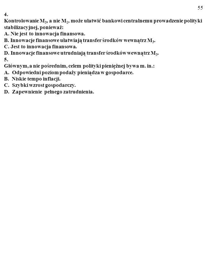 54 Test Plusami i minusami zaznacz prawdziwe i fałszywe odpowiedzi 1. Zapewne pojawienie się w Stanach Zjednoczonych oprocentowanych rachunków czekowy
