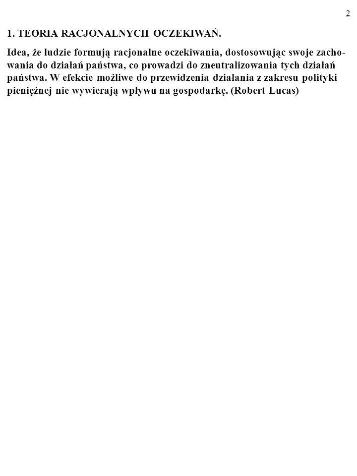 2 1.TEORIA RACJONALNYCH OCZEKIWAŃ.