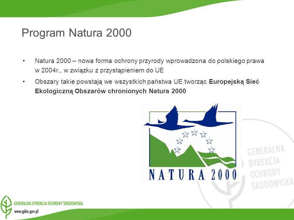 www.gdos.gov.pl Natura 2000 – nowa forma ochrony przyrody wprowadzona do polskiego prawa w 2004r., w związku z przystąpieniem do UE Obszary takie pows