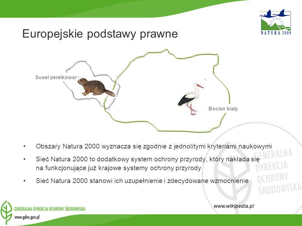 www.gdos.gov.pl Obszary Natura 2000 wyznacza się zgodnie z jednolitymi kryteriami naukowymi Sieć Natura 2000 to dodatkowy system ochrony przyrody, któ
