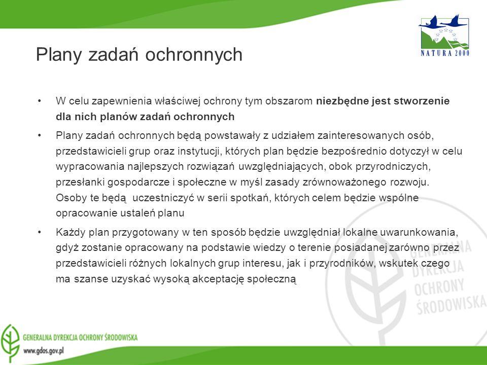 www.gdos.gov.pl Plany zadań ochronnych W celu zapewnienia właściwej ochrony tym obszarom niezbędne jest stworzenie dla nich planów zadań ochronnych Pl