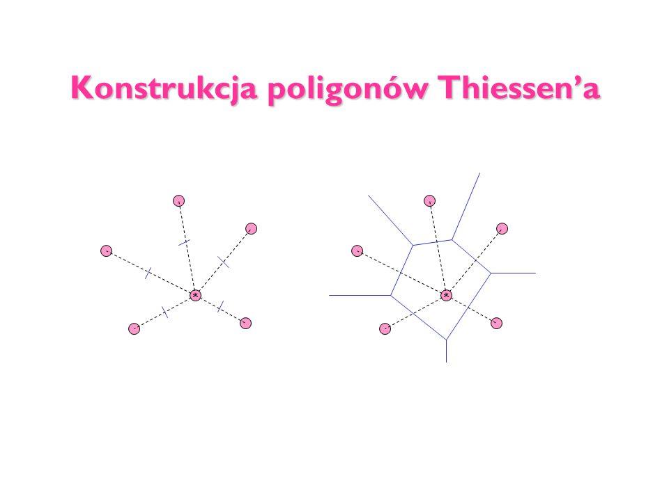 Konstrukcja poligonów Thiessena
