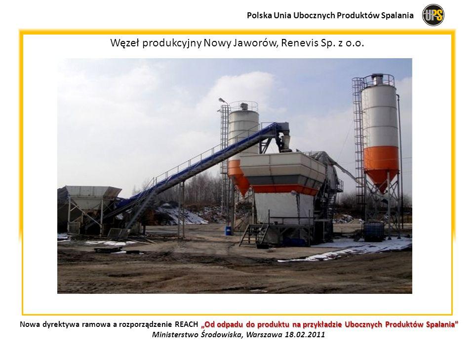 Węzeł produkcyjny Nowy Jaworów, Renevis Sp. z o.o. Polska Unia Ubocznych Produktów Spalania Od odpadu do produktu na przykładzie Ubocznych Produktów S