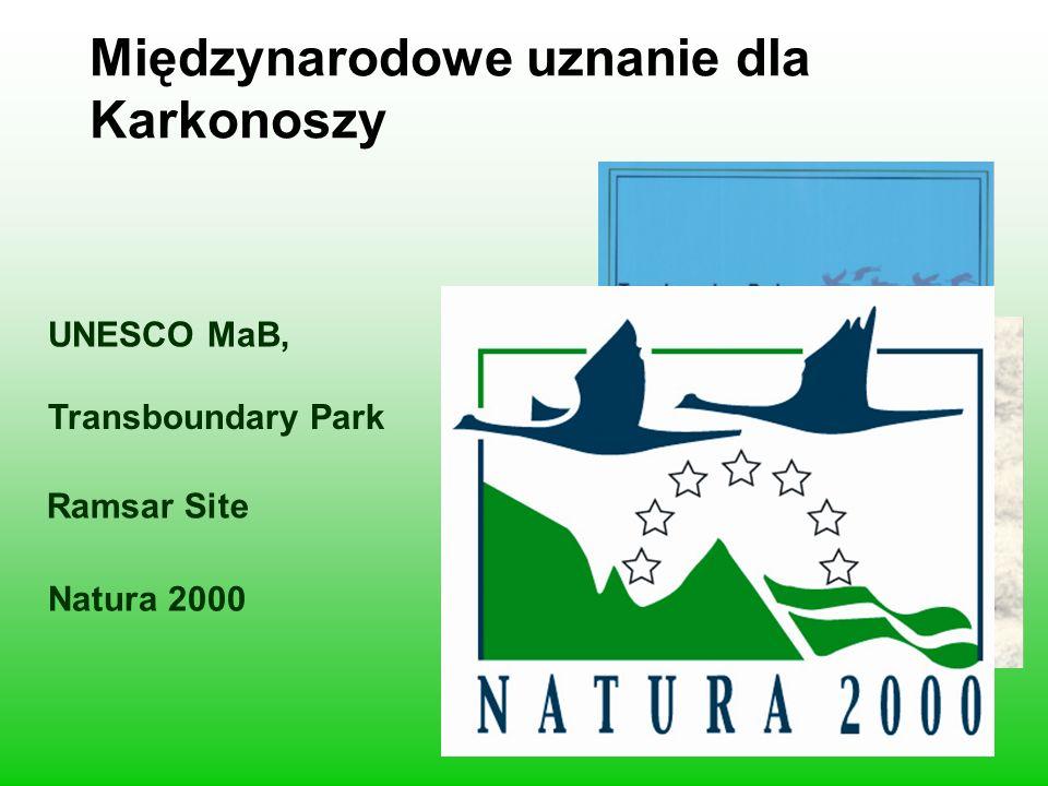 Międzynarodowe uznanie dla Karkonoszy UNESCO MaB, Transboundary Park Ramsar Site Natura 2000