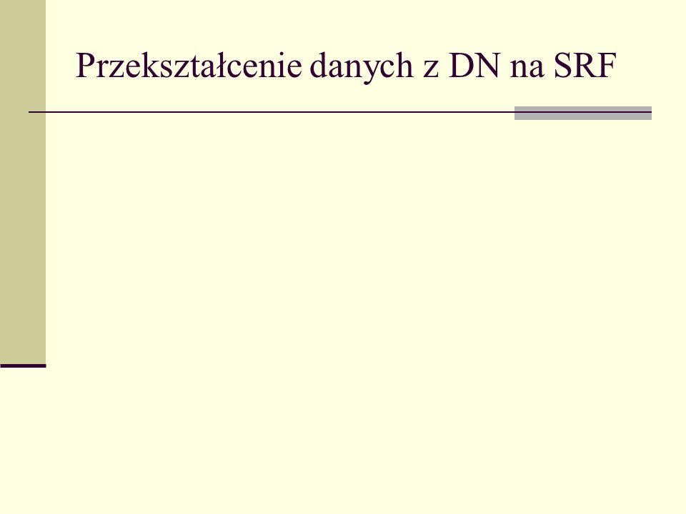 Przekształcenie danych z DN na SRF