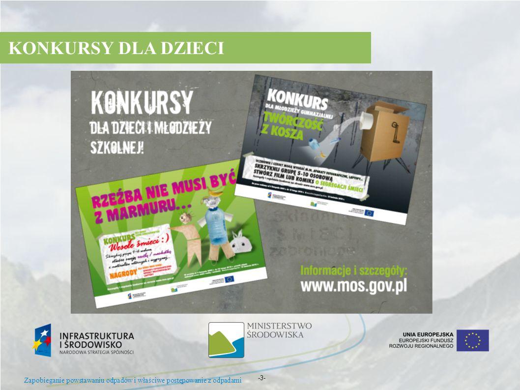 -3- KONKURSY DLA DZIECI Zapobieganie powstawaniu odpadów i właściwe postępowanie z odpadami