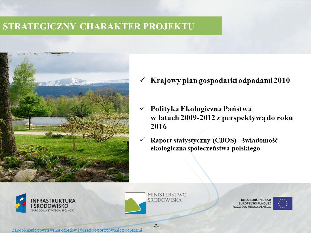 Krajowy plan gospodarki odpadami 2010 Polityka Ekologiczna Państwa w latach 2009-2012 z perspektywą do roku 2016 Raport statystyczny (CBOS) - świadomo