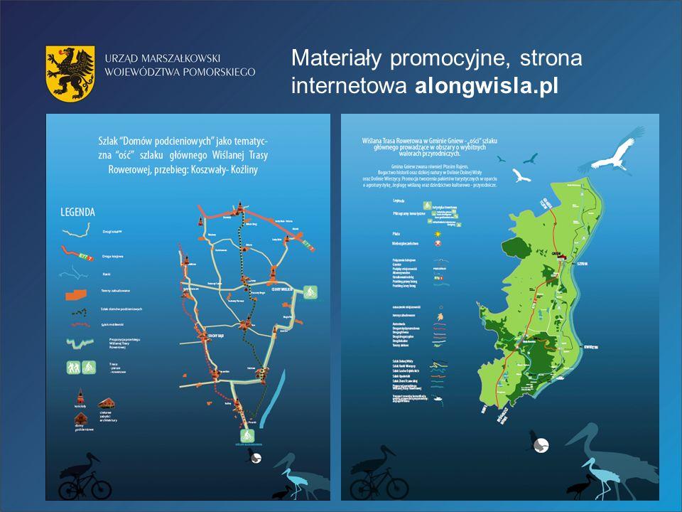 Materiały promocyjne, strona internetowa alongwisla.pl