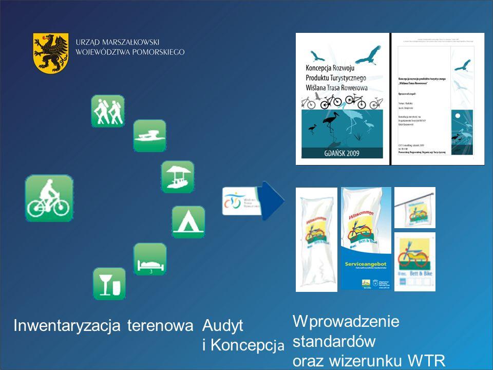 Inwentaryzacja terenowaAudyt i Koncepc ja Wprowadzenie standardów oraz wizerunku WTR