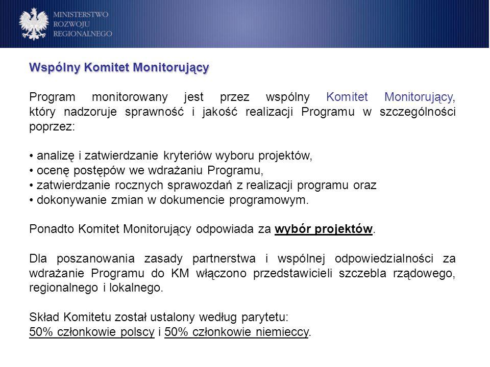 Wspólny Komitet Monitorujący Program monitorowany jest przez wspólny Komitet Monitorujący, który nadzoruje sprawność i jakość realizacji Programu w sz