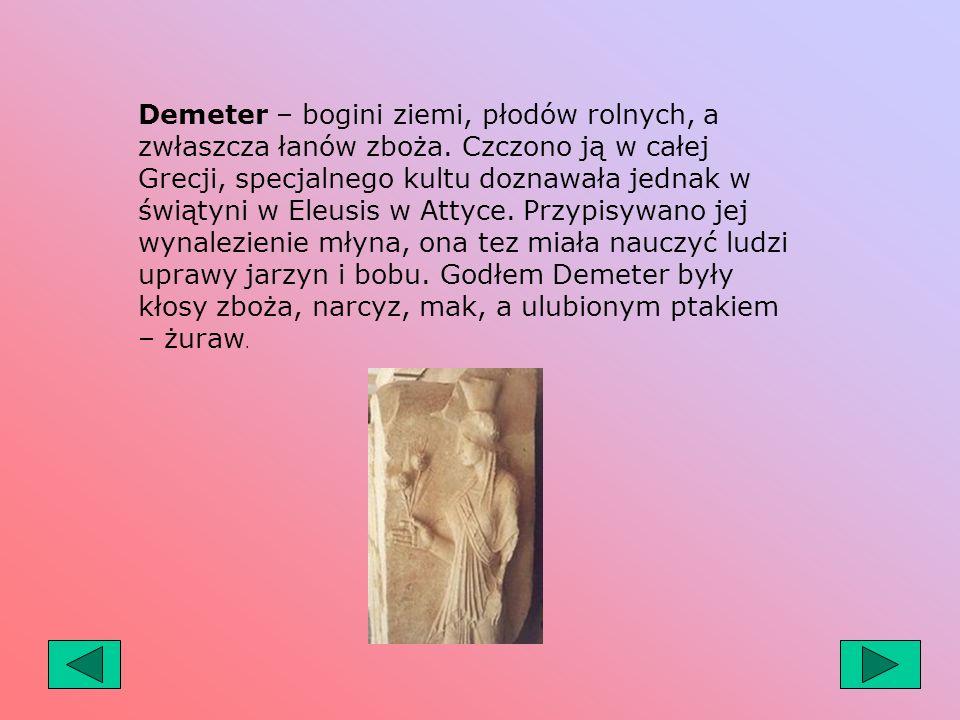 Hermes – bóg sprytu i zręczności, boski posłaniec. Pełnił funkcję opiekuna dróg, heroldów, podróżnych, kupców, rzemieślników i złodziei. Czczono go na