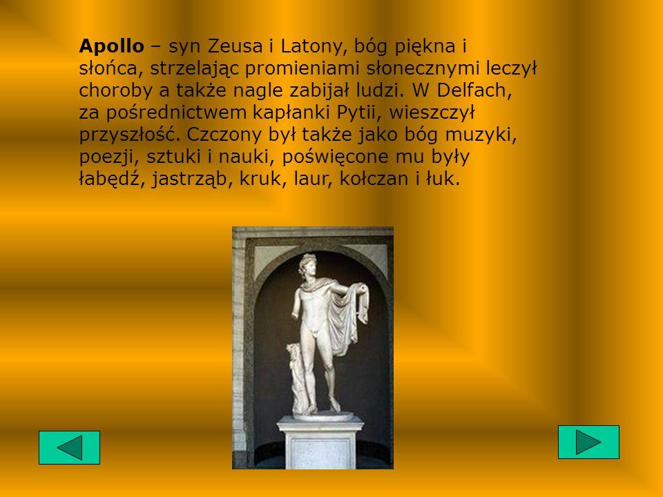 Demeter – bogini ziemi, płodów rolnych, a zwłaszcza łanów zboża. Czczono ją w całej Grecji, specjalnego kultu doznawała jednak w świątyni w Eleusis w