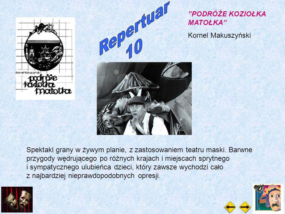 PODRÓŻE KOZIOŁKA MATOŁKA Kornel Makuszyński Spektakl grany w żywym planie, z zastosowaniem teatru maski.
