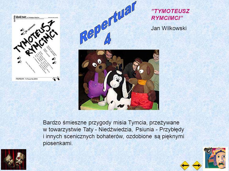 Bardzo śmieszne przygody misia Tymcia, przeżywane w towarzystwie Taty - Niedźwiedzia, Psiunia - Przybłędy i innych scenicznych bohaterów, ozdobione są pięknymi piosenkami.