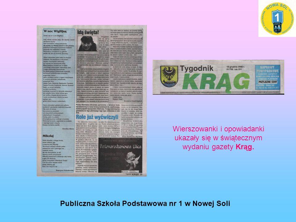 Wierszowanki i opowiadanki ukazały się w świątecznym wydaniu gazety Krąg.