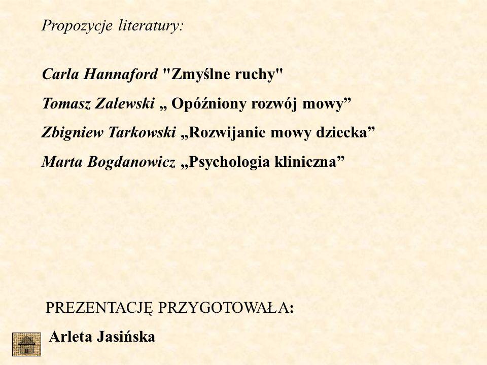 Propozycje literatury: Carla Hannaford