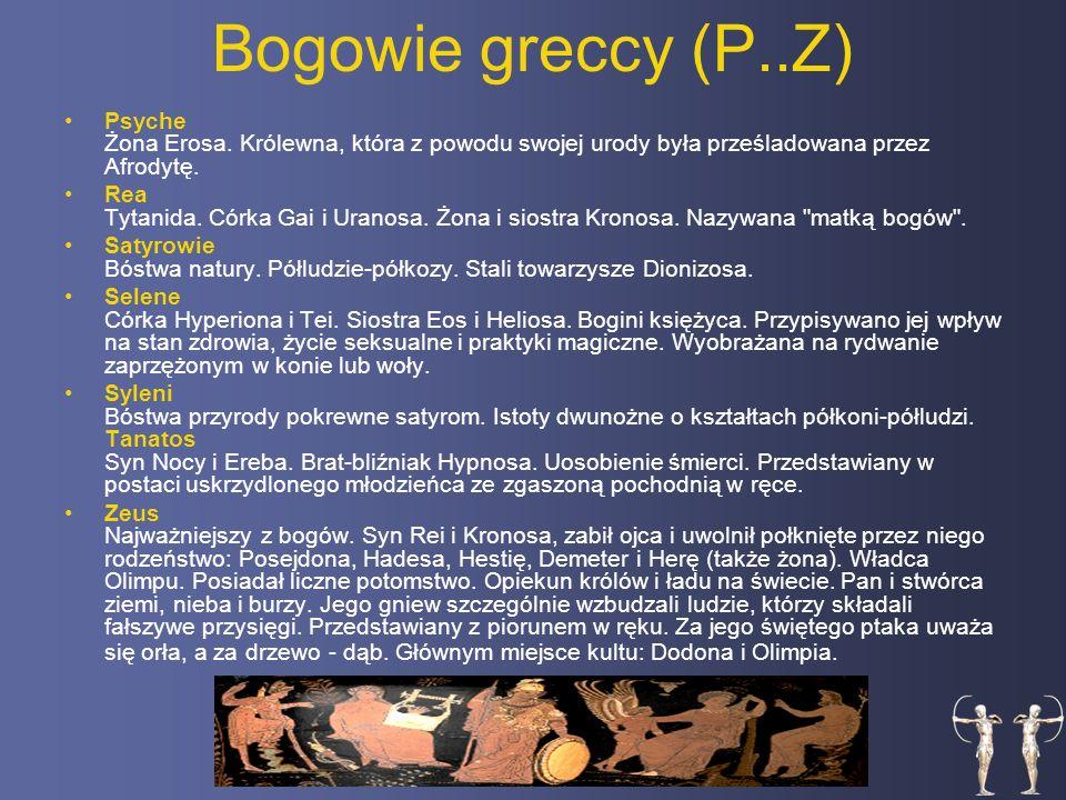 Bogowie greccy (P..Z) Psyche Żona Erosa.